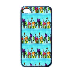 Colourful Street A Completely Seamless Tile Able Design Apple Iphone 4 Case (black) by Nexatart