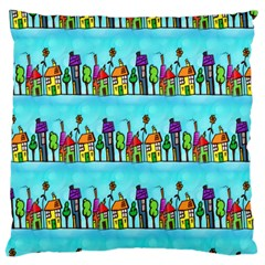 Colourful Street A Completely Seamless Tile Able Design Large Cushion Case (two Sides) by Nexatart