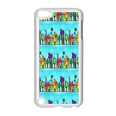 Colourful Street A Completely Seamless Tile Able Design Apple Ipod Touch 5 Case (white) by Nexatart