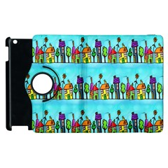 Colourful Street A Completely Seamless Tile Able Design Apple Ipad 2 Flip 360 Case by Nexatart