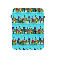 Colourful Street A Completely Seamless Tile Able Design Apple Ipad 2/3/4 Protective Soft Cases by Nexatart