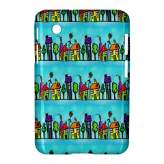 Colourful Street A Completely Seamless Tile Able Design Samsung Galaxy Tab 2 (7 ) P3100 Hardshell Case  by Nexatart