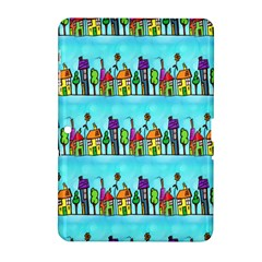 Colourful Street A Completely Seamless Tile Able Design Samsung Galaxy Tab 2 (10 1 ) P5100 Hardshell Case