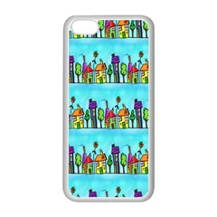 Colourful Street A Completely Seamless Tile Able Design Apple Iphone 5c Seamless Case (white) by Nexatart
