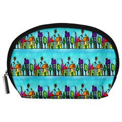 Colourful Street A Completely Seamless Tile Able Design Accessory Pouches (large)  by Nexatart