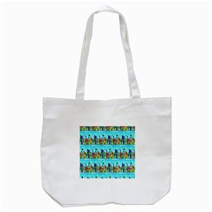 Colourful Street A Completely Seamless Tile Able Design Tote Bag (white) by Nexatart