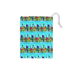Colourful Street A Completely Seamless Tile Able Design Drawstring Pouches (small)  by Nexatart