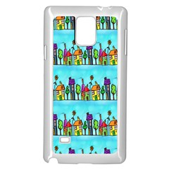 Colourful Street A Completely Seamless Tile Able Design Samsung Galaxy Note 4 Case (white) by Nexatart