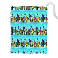 Colourful Street A Completely Seamless Tile Able Design Drawstring Pouches (xxl) by Nexatart
