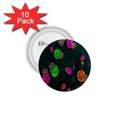 Cartoon Grunge Beetle Wallpaper Background 1 75  Buttons (10 Pack) by Nexatart