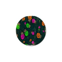Cartoon Grunge Beetle Wallpaper Background Golf Ball Marker by Nexatart