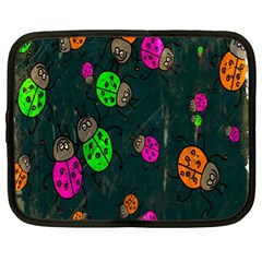 Cartoon Grunge Beetle Wallpaper Background Netbook Case (xl)  by Nexatart