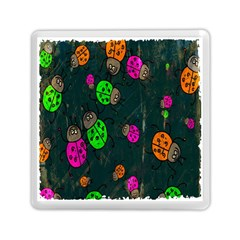 Cartoon Grunge Beetle Wallpaper Background Memory Card Reader (square)  by Nexatart