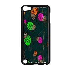 Cartoon Grunge Beetle Wallpaper Background Apple Ipod Touch 5 Case (black)