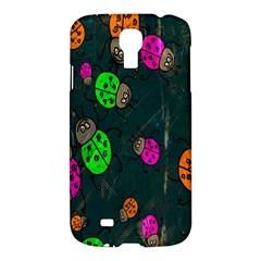 Cartoon Grunge Beetle Wallpaper Background Samsung Galaxy S4 I9500/i9505 Hardshell Case