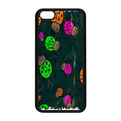 Cartoon Grunge Beetle Wallpaper Background Apple Iphone 5c Seamless Case (black)