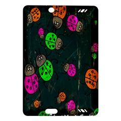 Cartoon Grunge Beetle Wallpaper Background Amazon Kindle Fire Hd (2013) Hardshell Case by Nexatart