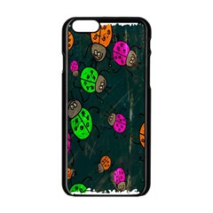 Cartoon Grunge Beetle Wallpaper Background Apple Iphone 6/6s Black Enamel Case by Nexatart