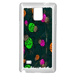 Cartoon Grunge Beetle Wallpaper Background Samsung Galaxy Note 4 Case (white)