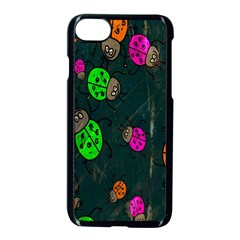 Cartoon Grunge Beetle Wallpaper Background Apple Iphone 7 Seamless Case (black) by Nexatart