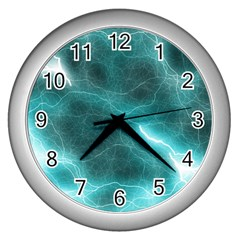 Light Web Colorful Web Of Crazy Lightening Wall Clocks (silver)  by Nexatart