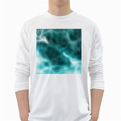Light Web Colorful Web Of Crazy Lightening White Long Sleeve T Shirts