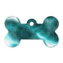 Light Web Colorful Web Of Crazy Lightening Dog Tag Bone (two Sides) by Nexatart
