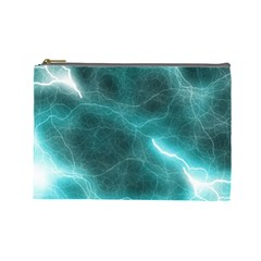 Light Web Colorful Web Of Crazy Lightening Cosmetic Bag (large)  by Nexatart