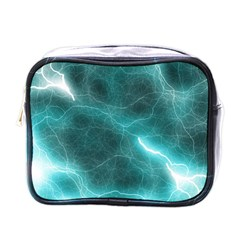 Light Web Colorful Web Of Crazy Lightening Mini Toiletries Bags by Nexatart