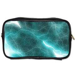 Light Web Colorful Web Of Crazy Lightening Toiletries Bags 2 Side by Nexatart