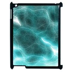 Light Web Colorful Web Of Crazy Lightening Apple Ipad 2 Case (black)