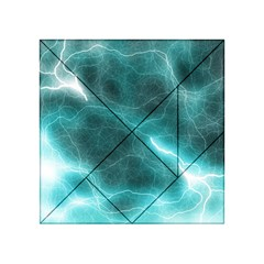 Light Web Colorful Web Of Crazy Lightening Acrylic Tangram Puzzle (4  X 4 ) by Nexatart