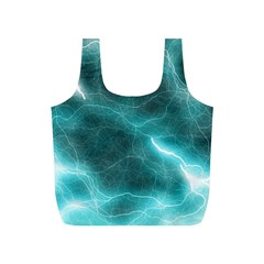 Light Web Colorful Web Of Crazy Lightening Full Print Recycle Bags (s)