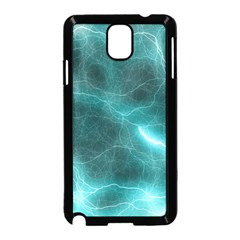 Light Web Colorful Web Of Crazy Lightening Samsung Galaxy Note 3 Neo Hardshell Case (black) by Nexatart