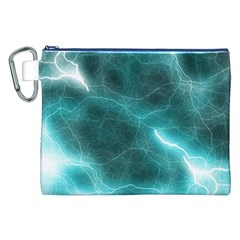 Light Web Colorful Web Of Crazy Lightening Canvas Cosmetic Bag (xxl) by Nexatart