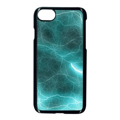 Light Web Colorful Web Of Crazy Lightening Apple Iphone 7 Seamless Case (black) by Nexatart