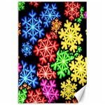 Colourful Snowflake Wallpaper Pattern Canvas 24  x 36  36 x24 Canvas - 1