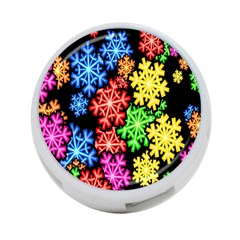 Colourful Snowflake Wallpaper Pattern 4 Port Usb Hub (two Sides)  by Nexatart