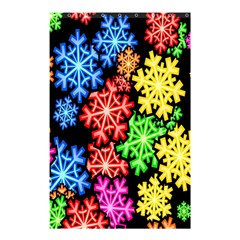 Colourful Snowflake Wallpaper Pattern Shower Curtain 48  X 72  (small)  by Nexatart