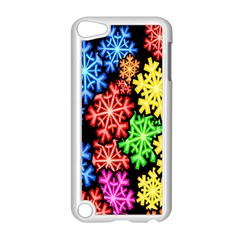 Colourful Snowflake Wallpaper Pattern Apple Ipod Touch 5 Case (white)