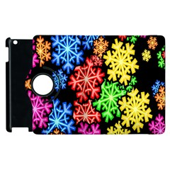 Colourful Snowflake Wallpaper Pattern Apple Ipad 3/4 Flip 360 Case by Nexatart