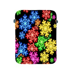 Colourful Snowflake Wallpaper Pattern Apple Ipad 2/3/4 Protective Soft Cases by Nexatart