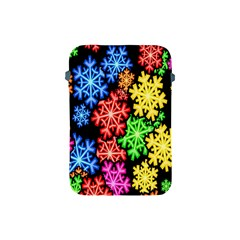 Colourful Snowflake Wallpaper Pattern Apple Ipad Mini Protective Soft Cases by Nexatart