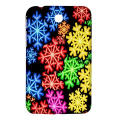 Colourful Snowflake Wallpaper Pattern Samsung Galaxy Tab 3 (7 ) P3200 Hardshell Case