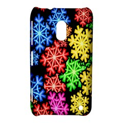 Colourful Snowflake Wallpaper Pattern Nokia Lumia 620