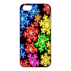 Colourful Snowflake Wallpaper Pattern Apple Iphone 5c Hardshell Case by Nexatart