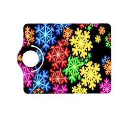 Colourful Snowflake Wallpaper Pattern Kindle Fire Hd (2013) Flip 360 Case by Nexatart