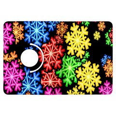 Colourful Snowflake Wallpaper Pattern Kindle Fire Hdx Flip 360 Case by Nexatart
