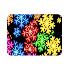 Colourful Snowflake Wallpaper Pattern Double Sided Flano Blanket (mini)  by Nexatart