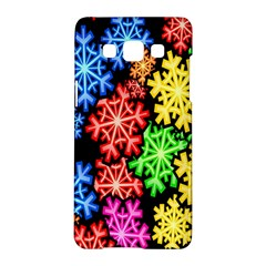 Colourful Snowflake Wallpaper Pattern Samsung Galaxy A5 Hardshell Case